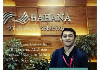 Salah satu Lulusan Universitas MH Thamrin Kampus AKA